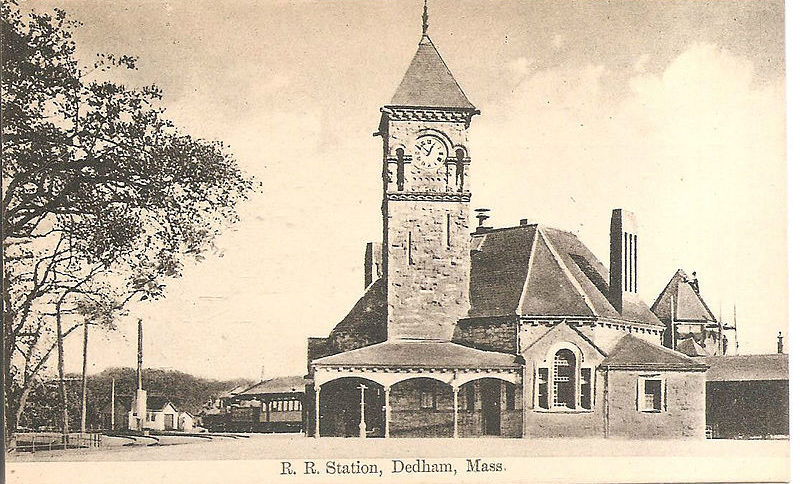 Dedham Movers - Dedham Railroad Station from the early 20th Century